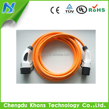 iec 62196 mode 3 ev cable chargers female to male plug with cable cord/type 2 evse charging cables three phase/tesla car charger