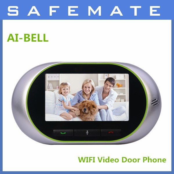 2015 wifi/3G smart electronic digital video door peephole viewer intercom