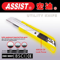 Pocket cutting tools popular in Europe abs cutter utility knife new design