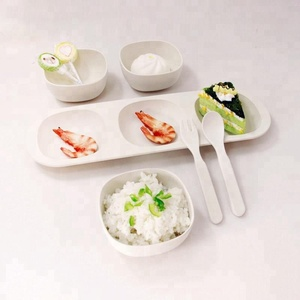 Past KFDA Test Bamboo Fiber Baby Tableware Dish Set Dinner Hot Selling In Korea