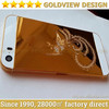 2014 Gold for iPhone 5 5S 24k 24kt 24ct Gold Golden plated plating back cover housing --New design,hot!!!