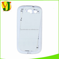 Sublimation soft rubber phone case for S3 9300 sublimation mobile cover