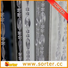 pretty hanging decorative plastic beaded curtain for door/window/garage