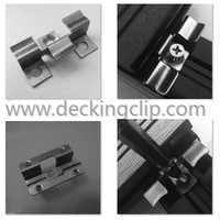 Eco-friendly wpc decking clips/outdoor decking