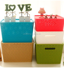 Home decoration plastic multi storage box with lid
