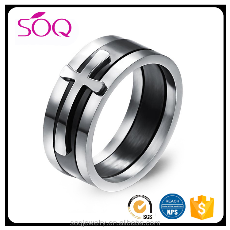 Trendy Band Different Size Luxury Black Tungsten Steel Men Wedding Rings Jewelry