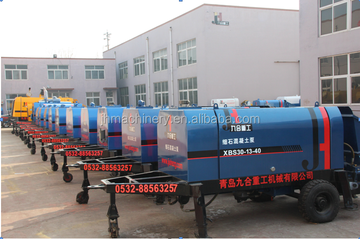 25m3/h 33KW electric engine driven S tube valve small portable concrete pump for hot sale