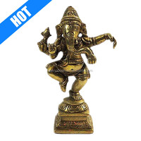 golden color hand painted hot sale ganesh decoration items