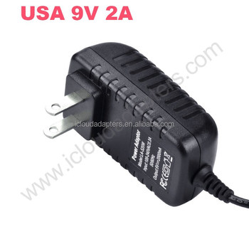High Quality USA Plug 9V 2A Switching Power Adapters