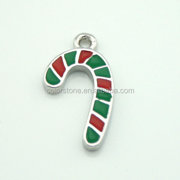 The candy cane christmas pendant Christmas promotional gift pendant Hot sale christmas pendant