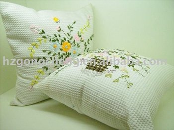 100% cotton embroidery cushion