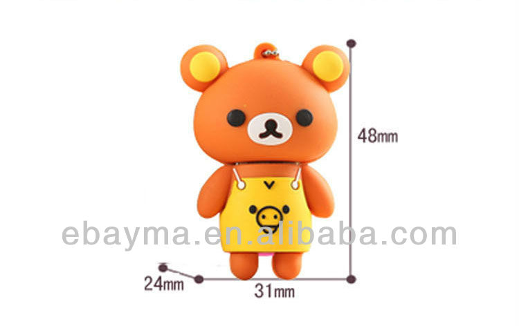 Factory price cartoon bear usb flash drive 8gb bear PVC usb with various customize Logo company gifts