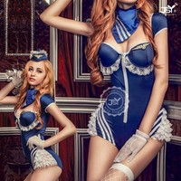 Sex product wholesale air stewardess uniform Cosplay adult sexy bad girl costumes