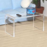 fashion small clear acrylic console table