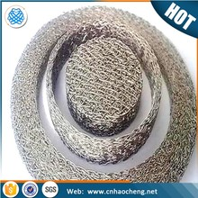 Stainless steel compressed knitted wire mesh filter/snow foam lance mesh filter