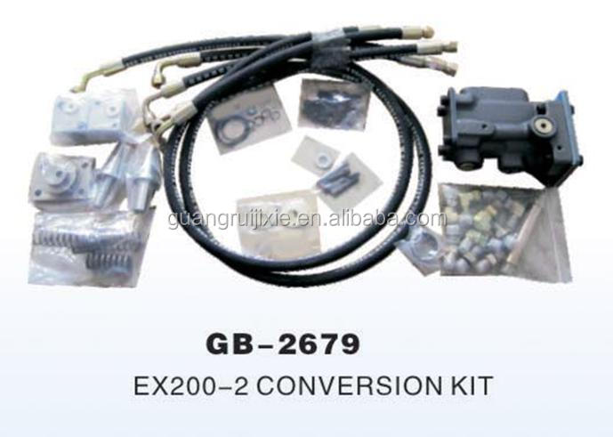 Hitachi Ex200-2 Excavator Hydraulic Pump Conversion Kit in English Instruction