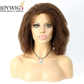 Factory new design 10A grade 4# Color Africa curly Chinese virgin Human Hair full lace Wig