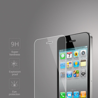 Factory Price 0.4mm tempered glass screen protector for iPhone 4 4s OEM/ODM (Glass Shield)