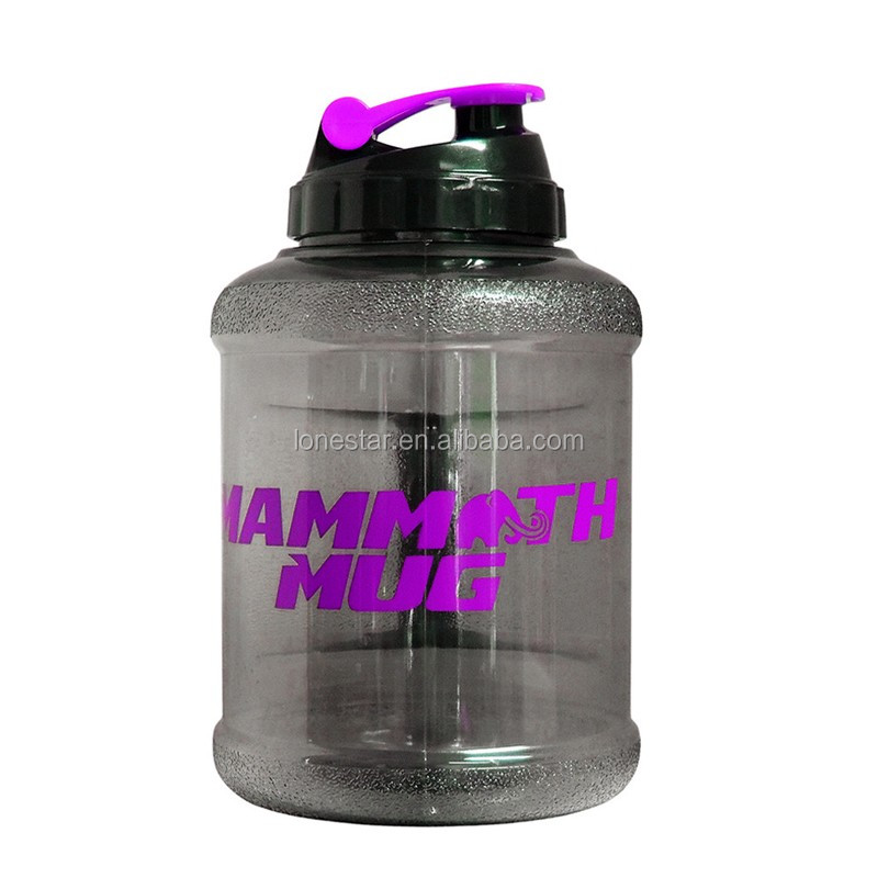 2.2l petg water bottle with side handle big jug for gym fitness
