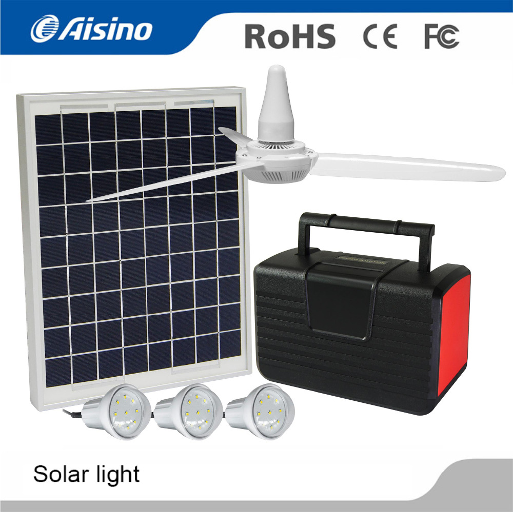 Factory supply high quality solar ceiling fan