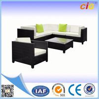 Passed SGS 2 Years Warranty plastic outdoor sofa
