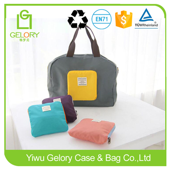 Waterproof handle style foldable nylon travelling bag