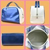 blue + white toilet bag beauty middle size travel makeup bag from guangzhou baiyun factory