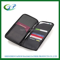 customized PU leather RFID card holder multiple passport wallet