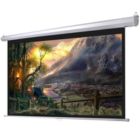 Wall mount projector screen portable folded