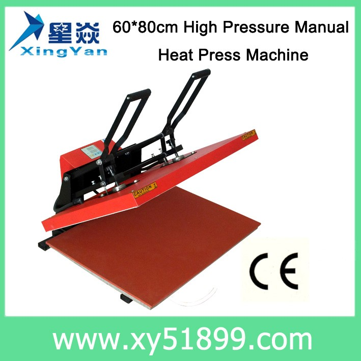 60*80CM T shirt logo High pressure manual Heat press <strong>machine</strong>