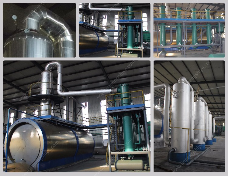 Waste Oil Refining Plant / Crude Oil Distillation Machine from JinPeng