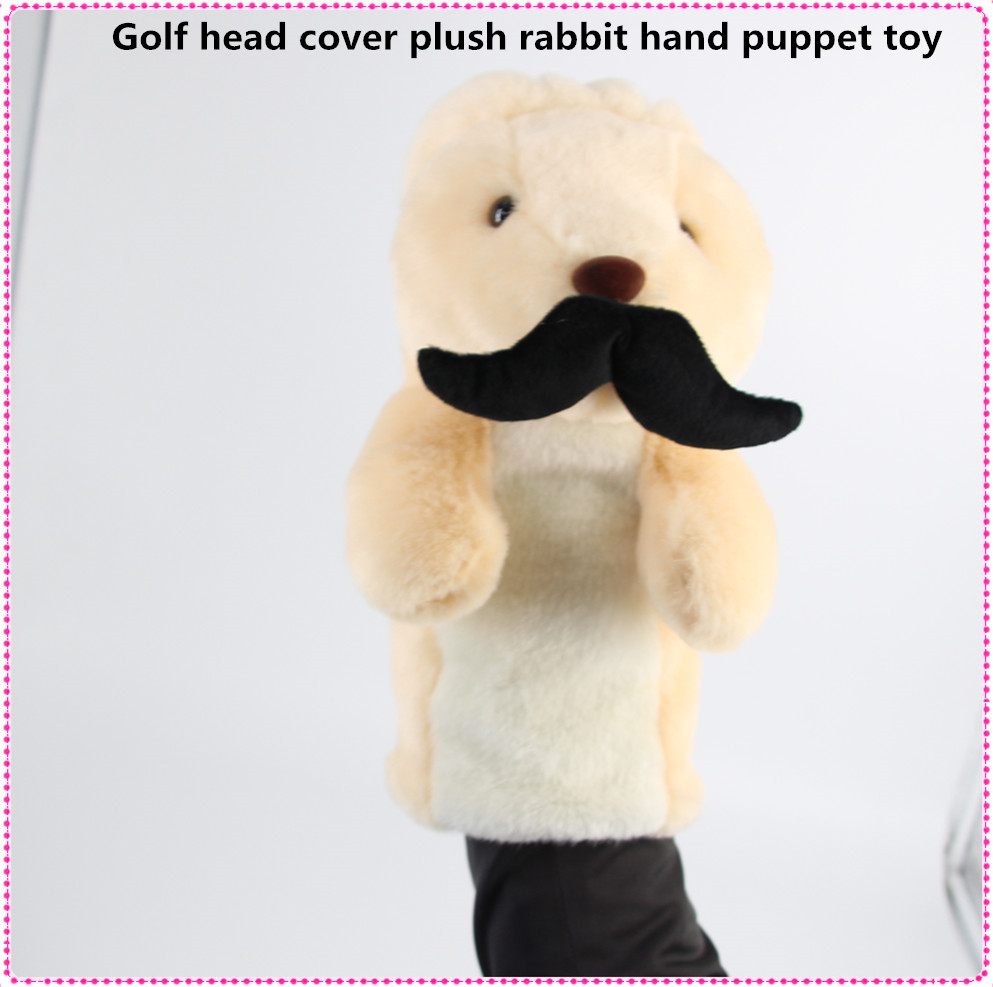 OEM hot sale stuffed golf head cover plush rabbit hand puppet toy