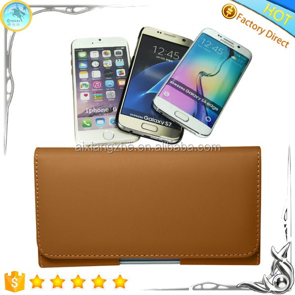 Belt Clip Phone Pouch Card Holder Flip Leather PU Folio Wallet Phone Back Cover Case for Nokia 206/Asha 205/Asha 210