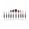 New product latest design oval multi-purpose makeup brush horn handle oval makeup brush