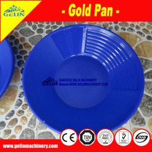 "High quality 14"" & 15"" gold washing plastic Gold Pan with deep riffles"
