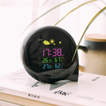 New arrivals 2017 weather station green science digital thermometer hygrometer battery alarm clock