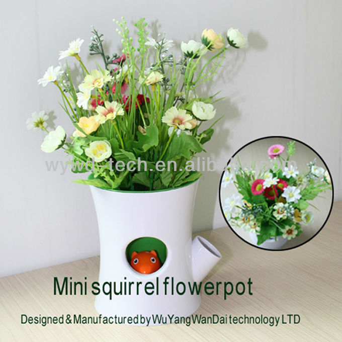 Special Flower With The Squirrel Flowerpot, Best Personal Souvenirs For Lover,Wedding,Birthday And New Baby Born