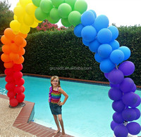 Rainbow color latex balloon for party
