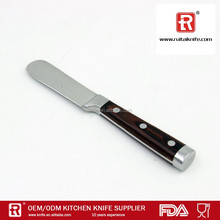 High quality stainless steel wood handle butter spread knife cheese knife