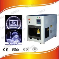 Remax-c1 3d photo laser machine 3d laser engraving machine for picture very beautiful