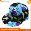 Fashion style plain flower printing snapback hats
