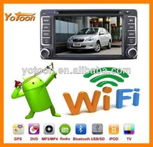 Android Car DVD player, GPS/BT/MP3/MP4/MP5/FM/AM/IPOD 100 kinds of Android 4.0 Car DVD 3G(WCDMA) and WIFI