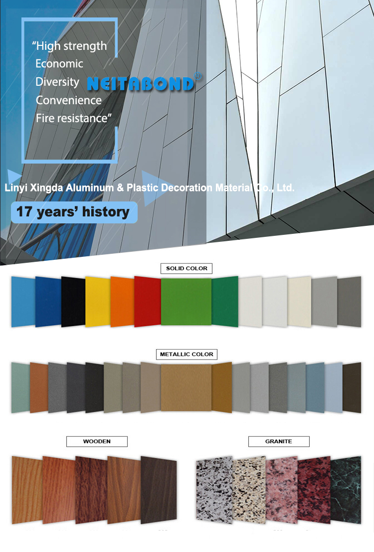 Sandwich ACP Seven Aluminium Composite Panel for curtain wall
