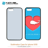 wholesale plastic 2D Blank sublimation mobile phone case for Iphone 5