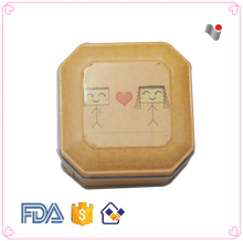 Wholesale delicate square tin box for band-aid