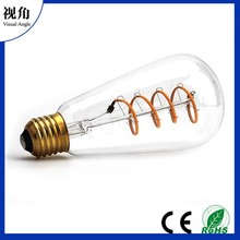 ST64 Soft LED Filament Bulbs,Vintage Style