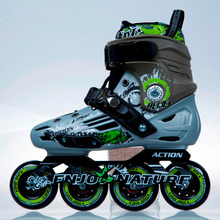 ACTION brand Racing Skate Shoes PW-A66 High Rebounded PU wheels 100mm Speed Skate Shoes No MOQ limit