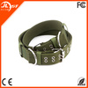 Custom Print Logo Nylon Pet Dog Training Collar Wholesale Locking Dog Collar in Army Green
