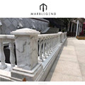 Elegant White Marble Stair Railing Designs
