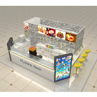 Myshine customize retail food shop dessert kiosk interior drink kiosk